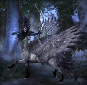 A centaur with wings is called a pteracentaur