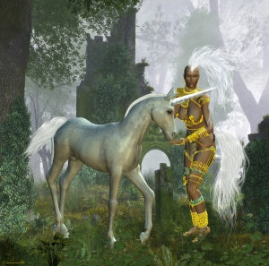 The unicorn appears in the Old Testament as something to both fear and revere. Many writers have speculated that the unicorn inhabited the Garden of Eden, but it is not specifically named. There is a theory that the unicorn perished in the great flood.