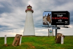 Nova Scotia is famous for lighthouses........and anti-slaughter billboards?