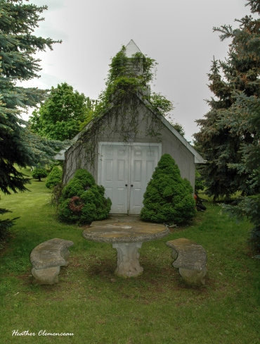 The chapel at the cemetery. The cemetery is home to a couple thousand interments.